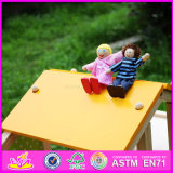 2016 Madeira grossista Kids Doll House, madeira de bricolage Kids Doll House, filhos de madeira mais populares Doll House W06A155