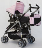 Baby-Spaziergänger mit Aluminiumrahmen mit Auto-Sitz (390A)