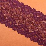 Черный шнурок ткани Knit полиэфира