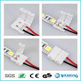 10mm 2pin de Kabel van de Schakelaar Solderless voor het 5050 Enige LEIDENE van de Kleur Licht van de Strook