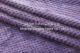 100%年のポリエステルジャカード平野のフランネル毛布の蜜蜂の巣の平野毛布