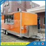 De volledig Aangepaste Vrachtwagen van het Snelle Voedsel voor Verkoop/de Bus van het Voedsel van het Staal