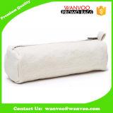 Poche cosmétique de renivellement de rectangle de sac de toile blanc crème faite sur commande