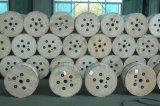 Aus optischen Fasern Erdungsdraht als plattierter Stahlaluminiumdraht in der hölzernen Trommel