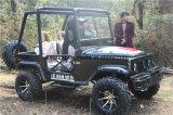 4つの荷車引きの小型黒いジープの電気スポーツATV