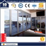 Puertas deslizantes Bi-Fold de aluminio comerciales de cristal dobles As2047