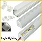 Canal de aluminio de la forma de V LED con la cubierta blanca lechosa de la PC