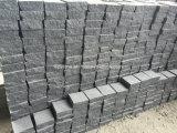 Pedra de pavimentação do granito G654 cinzento escuro