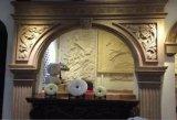 Камин скульптуры песчаника типа Европ для домашних украшений