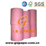Papel sem revestimento cor-de-rosa de Woodfree com embalagem do rolo