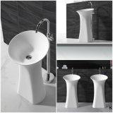 Kingkonree White Marble Pedestal Washing Basin Usado para banheiro (B1704181)