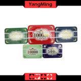 Chipset de primeira qualidade do póquer da coroa/chipset acrílico plástico feito sob encomenda do casino com caso de alumínio Ym-Scma001