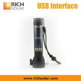 Torche électrique solaire Carriable puissante de DEL avec l'USB