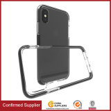Tampa Shockproof transparente do telefone de TPU+TPE para o iPhone X