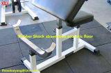 Revestimento de borracha para piso de ginástica com peso livre