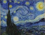 Écharpe étoilée de soie d'impression d'art de nuit