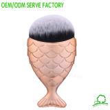 Cepillo de la sirena de la alta calidad del cepillo de la fundación de la dimensión de una variable de los pescados del cepillo 1PCS del maquillaje