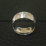 De Ring &#160 van de Juwelen van de manier; 9PCS de stenen Ingelegde Ring van het Roestvrij staal (CZR2586)