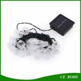 20 die LED-Weihnachtsklingel-Bell-Solarzeichenkette beleuchtet Solarbeleuchtung-Dekoration-wasserdichte feenhafte Licht-Energien-Einsparung-Ausgangsdekoration