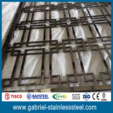 Diviseur de pièce décoratif intérieur de l'acier inoxydable 201