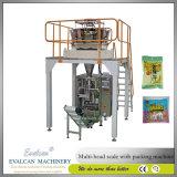 Fruta seca, galletas pequeñas vertical máquina de embalaje con Multihead pesador