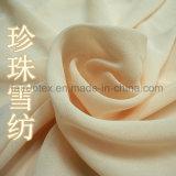 100% полиэстер мягкие Pearl шифон ткань для леди футболка ткань