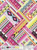 Het afdrukken van de Geometrische Stof van de Polyester van het Patroon voor de Kleding van het Kledingstuk doet Schoenen in zakken