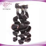 Человеческие волосы индейца девственницы естественного сырцового естественного цвета Unprocessed