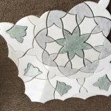 Het marmeren Patroon van het Mozaïek van de Steen van het Medaillon van de Straal van het Water Natuurlijke