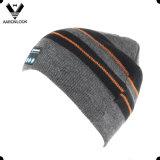 Chapéu quente direto da música do Beanie de Bluetooth do Knit da listra da venda da fábrica