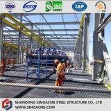 El bastidor de acero pesado de edificio industrial de gran altura