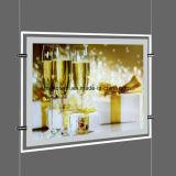 Diodo emissor de luz de cristal de anúncio Slimline Box&#160 claro;