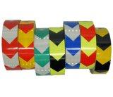 PVC矢の安全反射警告のテープ、黄色または黒