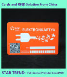 Cartão plástico para o membro do supermercado com listra magnética (ISO 7811)