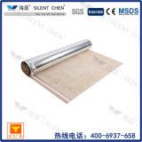 Sous-couche en caoutchouc 100% naturel 3 mm avec feuille d'aluminium doré