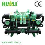 Tipo refrigerador do parafuso de Huali de água de refrigeração água do compressor