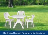 Hot Sale Outdoor Furniture Plastic Chair and Round Table