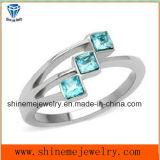 Anillo de dedo de la piedra del acero inoxidable de la joyería de la manera de Shineme