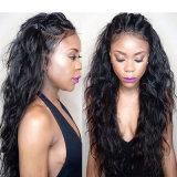 C Urly Kinky Индийского Virgin человеческого волоса в полной мере кружева кружева Wig Wig/передней панели
