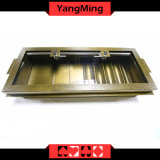 طبقة معدن مصنع أسلوب [بوكر شب] صينية مع [5-روو] رقاقة مستديرة/3 - يقطّب مربع مستديرة [يم-كت17]
