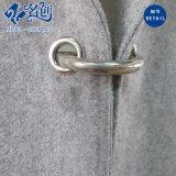 Kleid-Fabrik-lange Hülsen-Revers-graue Form-langer Dame-Mantel
