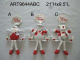 Figurines de Noël sur bois Décoration de décoration Noël -3sst
