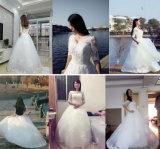 Sequins-halbes Hülsen-Ballkleid, das Brautkleid mit Umhüllung Wedding ist