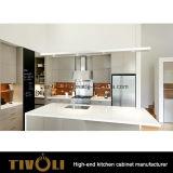 開架および島デザインTivo-0263hの積層物によって張り合わせられる現代台所食器棚