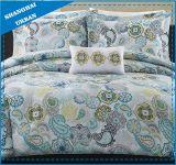 Conjunto floral de la cubierta del Duvet del algodón de Colleciton del azul de cielo