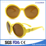 Kids Lovely Flower Shape Frame Promotion Óculos Brown Lens