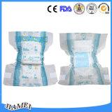 Fabricante de fraldas para bebé descartáveis com Leakguards