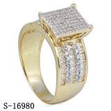 Monili d'argento dell'anello delle 925 donne con il tono due placcato
