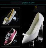 El titular de estante de zapato de acrílico transparente