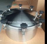 Edelstahl-hygienischer Druckbehälter Manway mit Plastikgriff